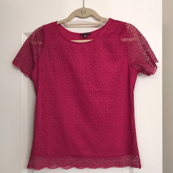 The Limited Tops - The Limited fuchsia top